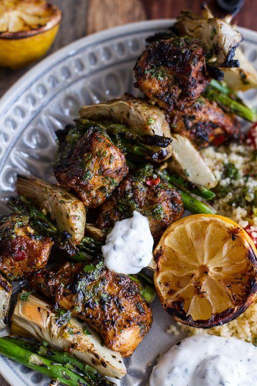 ... +++Lemon+Moroccan+Chicken+Skewers+with+Minted+Goat+Cheese+Yogurt