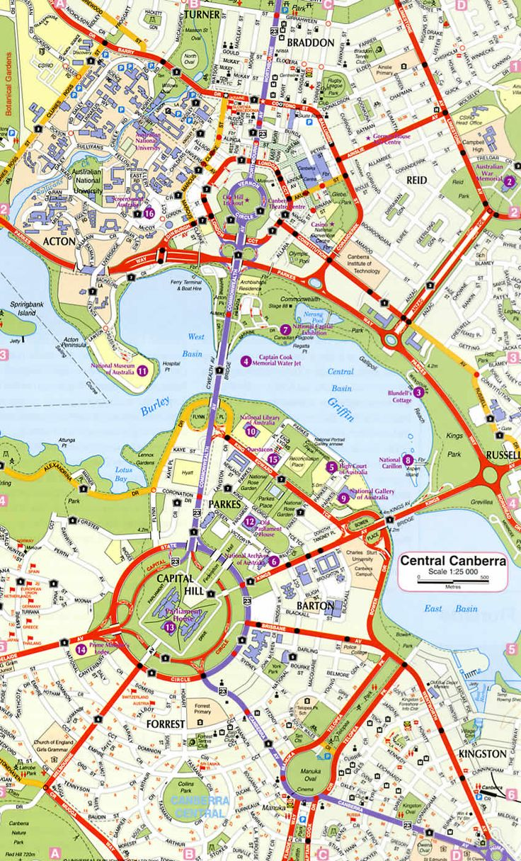 Canberra Ring Road Map Canberra Pinterest