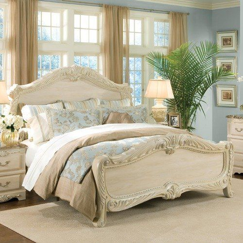 Standard Furniture Rococo Panel Bed