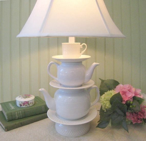 Cup and saucers alice in wonderland shabby chic country beach cottage