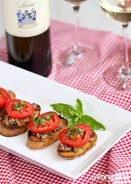 Grilled crostini with olive tapenade and tomato | allParenting.com