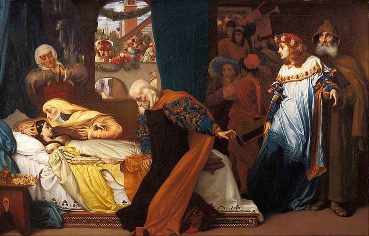 Frederic Leighton - The feigned death of Juliet