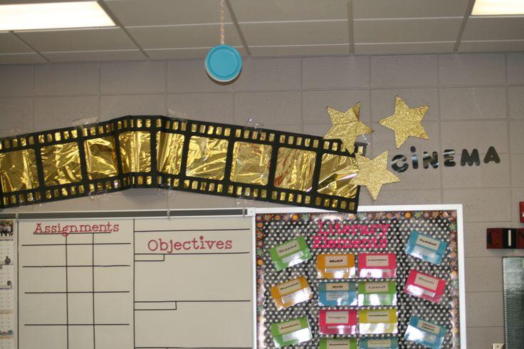 Cinema decorations my classroom pinterest for Decoration cinema