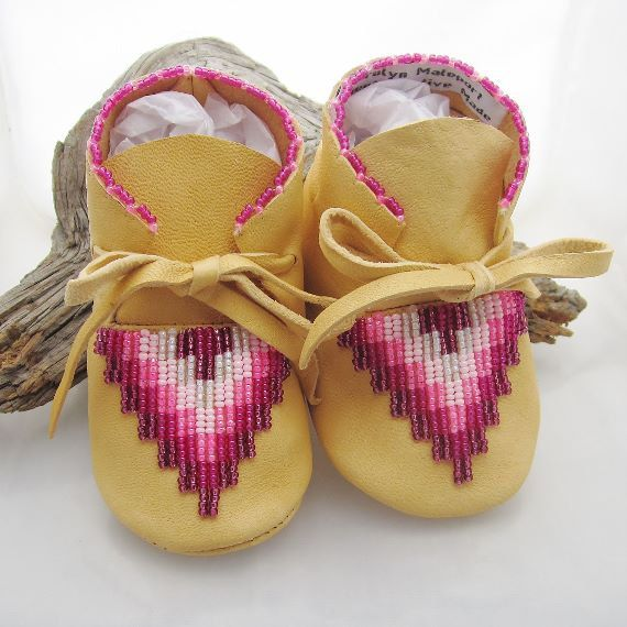american beaded baby moccasins shoes infant size