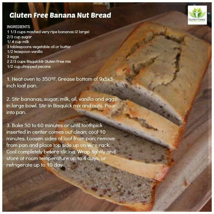 Gluten free Banana Nut Bread | Favorite Recipes | Pinterest