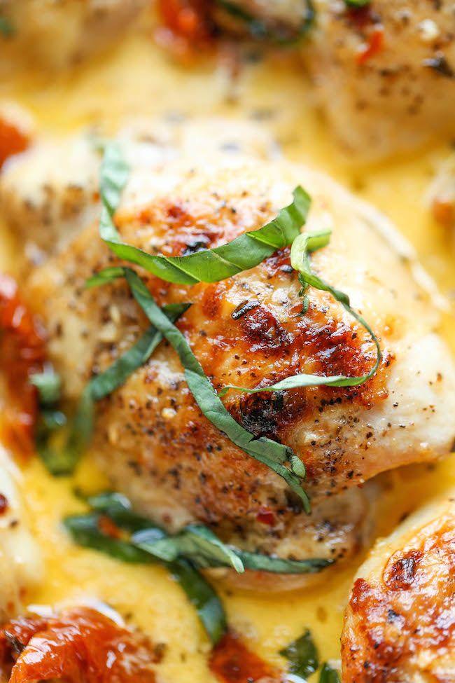 Chicken with Sun-Dried Tomato Cream Sauce - Crisp-tender chicken in ...