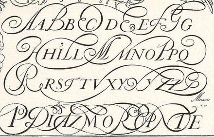 Script Alphabet With Flourishes Fonts Pinterest