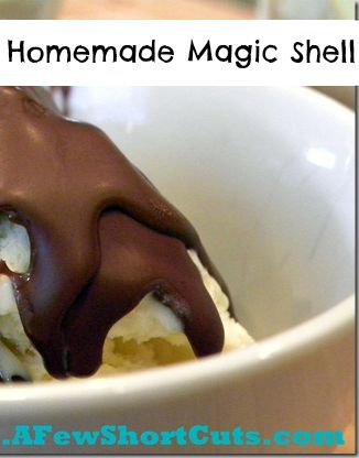 Homemade Magic Shell Recipe. This stuff is delicious over ice cream