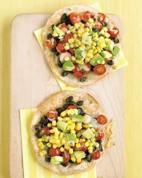 black bean + corn tostadas | Meatless | Pinterest