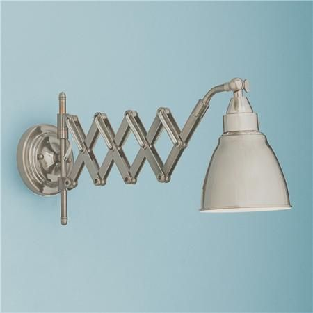 Wall Mounted Accordion Lamps : Accordion Cone Swing Arm Wall Lamp Available in 2 Colors: Bronze, Sat?