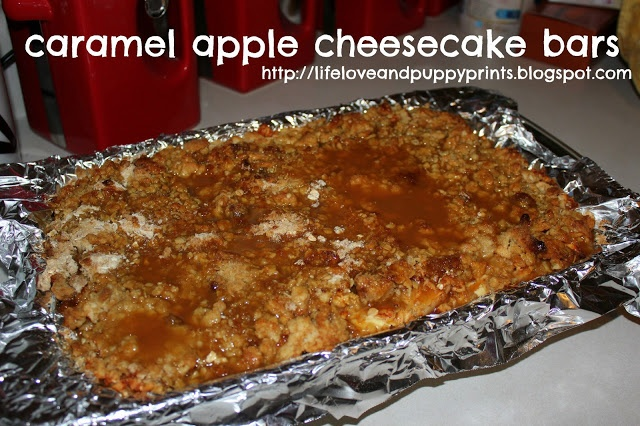 cARamel apple cheesecake bars | Sweets | Pinterest