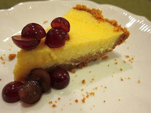 Lemon Ricotta Pie with red grapes. | FOOD AND BOOZE | Pinterest