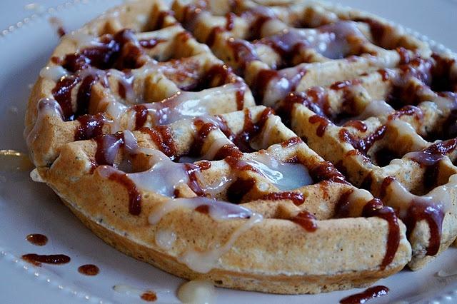 cinnamon roll multi-grain waffles | Food: Breakfast | Pinterest