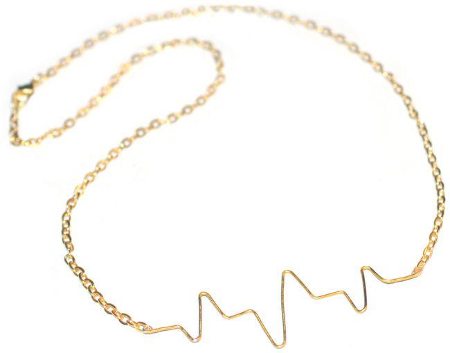DIY: Heartbeat Necklace