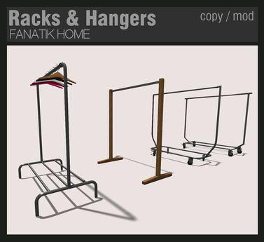 FANATIK HOME: Racks & Hangers - mesh clothing display racks - store