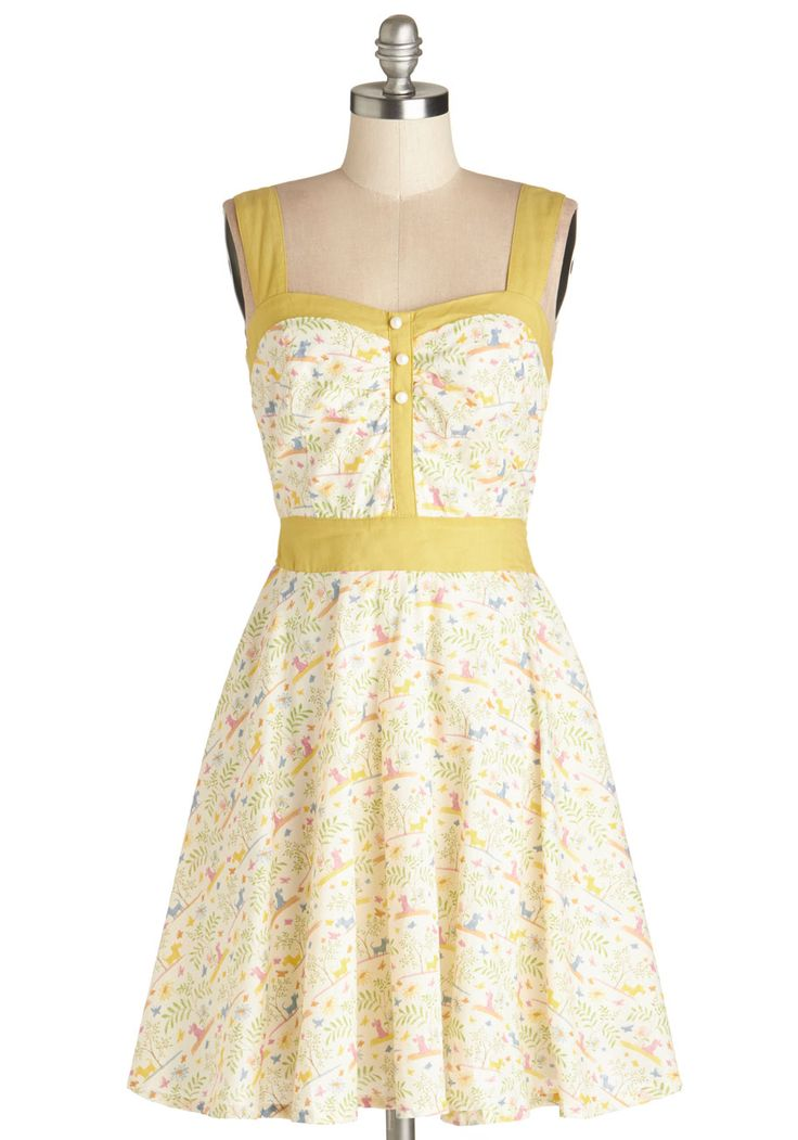 Puppies at Play Dress | Mod Retro Vintage Dresses | ModCloth.com