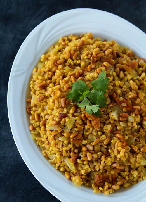 Saffron Farro with Apricots and Pine Nuts for a New Year, New You | La Fuji Mama