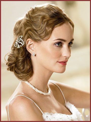 Side Swept Updo Wedding Hairstyles 2012