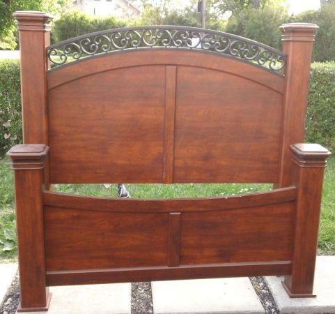 ashley bed frame queen size sweet dreams pinterest. Black Bedroom Furniture Sets. Home Design Ideas