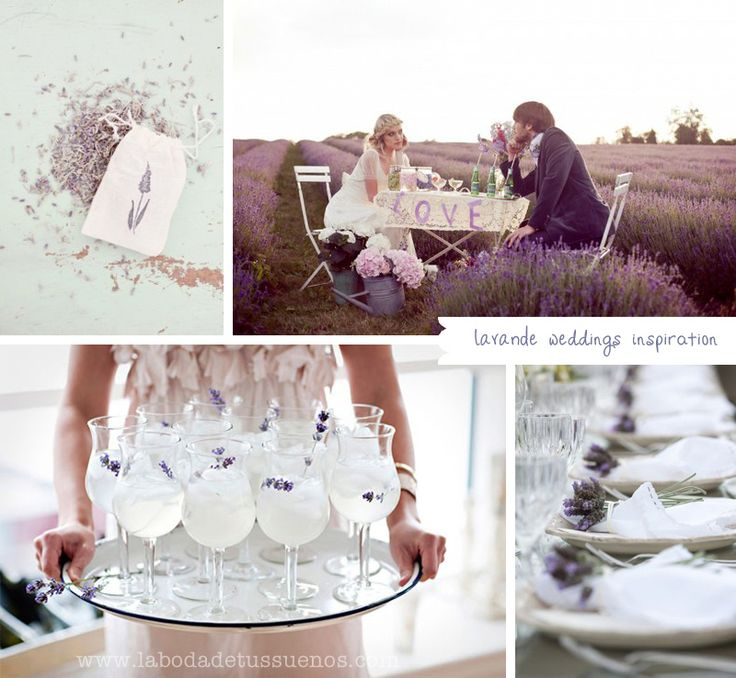 Bodas con Lavanda.. // Lavande in Weddings