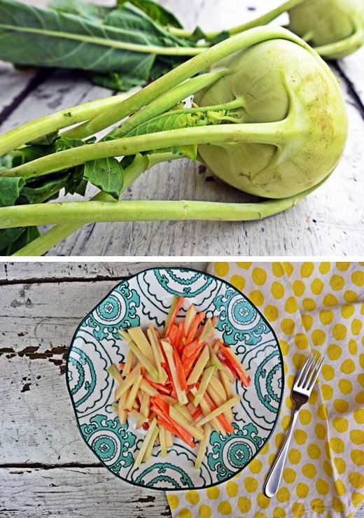 ... Slaw (Kohl Slaw) with apple & carrot and greek yogurt dressing