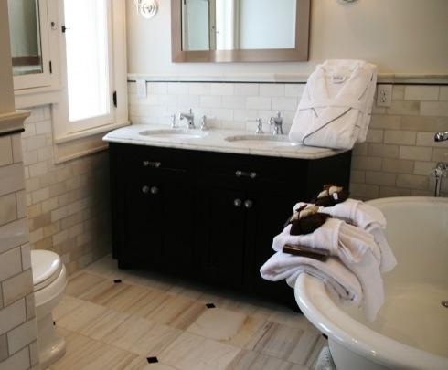 Master bath from rehab addict rehab addict pinterest for Bathroom rehab