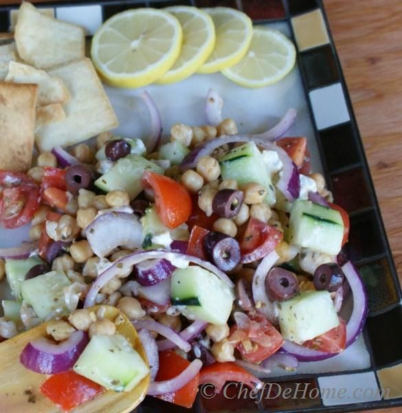 Greek-Style Chickpea and Cucumber Salad | Recipe