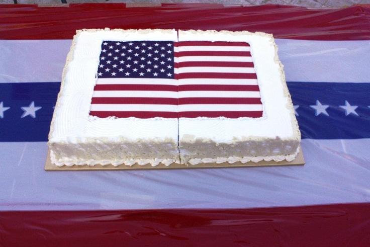 American Flag Cake | cake ideas | Pinterest