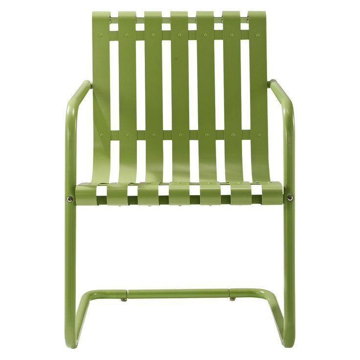 Gracie Metal Retro Patio Spring Chair : Target