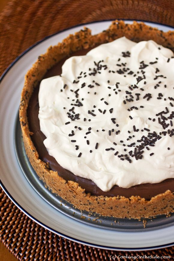 Chocolate Pudding Pie | Pies, Tarts & Galettes Recipes | Pinterest