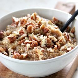 Maple-Pecan Quinoa Porridge Recipe   Yummy   Pinterest