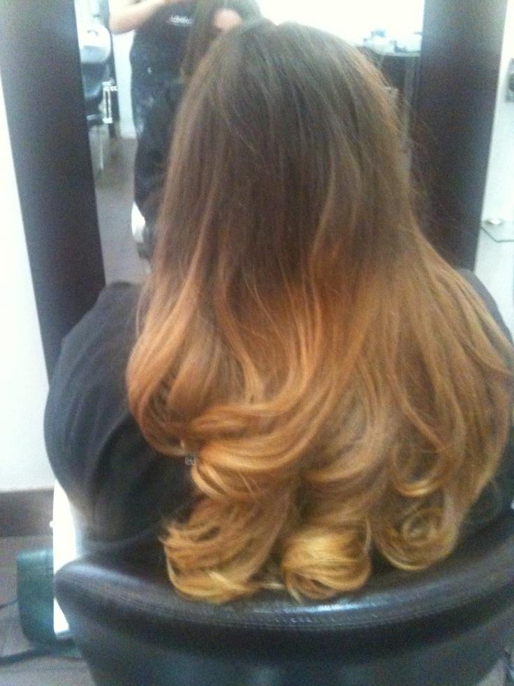 dip dye hair black to brown - photo #24