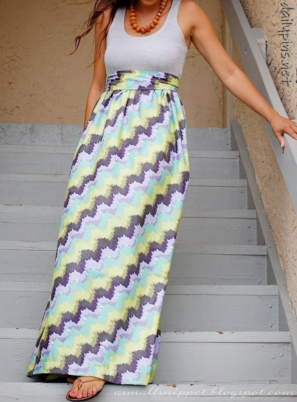 DIY maxi dress -- I'm SO trying this!