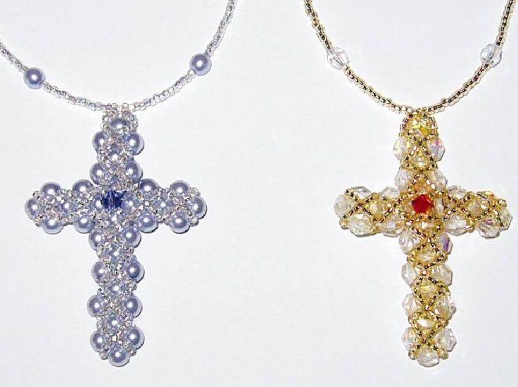 beaded crosses beaded cross hearts patterns tutorials