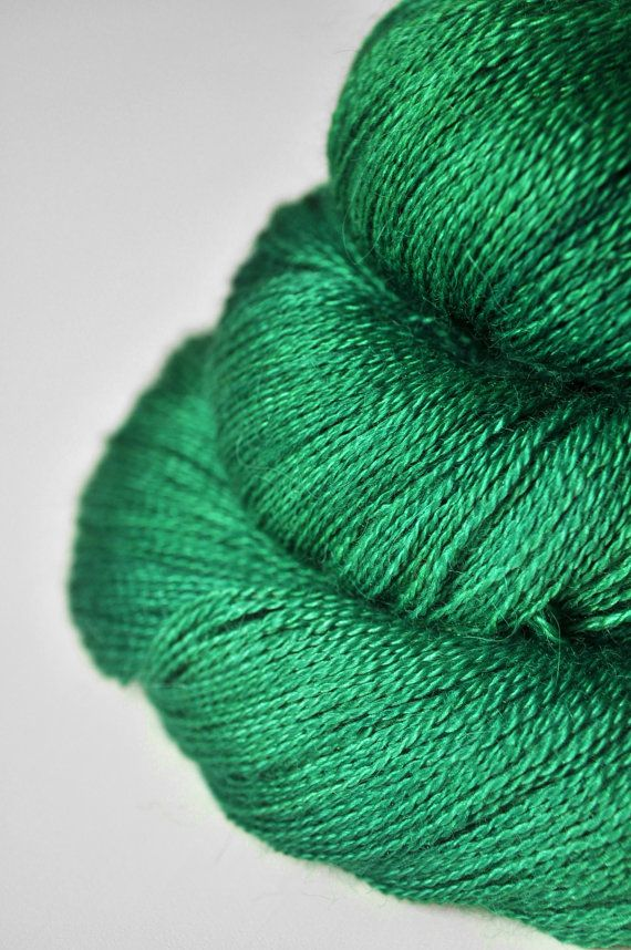 Absinthe BabyAlpaca/Silk Lace Yarn by Dyeforwool on Etsy, ?21.00