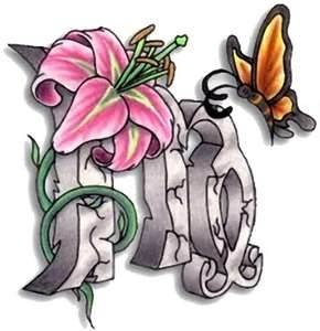 Virgo and Butterfly Tattoo Design