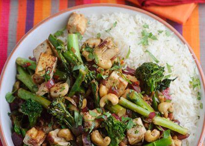 Recipe: Levi Roots Tenderstem Broccoli, cashew and tofu stir fry