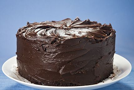 Double Chocolate Layer Cake. Reminds me of the movie Matilda if anyone ...
