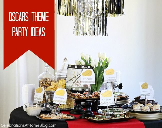 oscars theme party ideas - best picture themed menu #oscarsparty