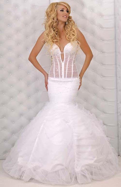 Sexy mermaid wedding gown wedding pinterest for Sexy wedding dresses pictures