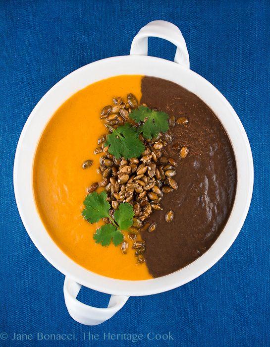 Lantern Soup; Butternut Squash-Carrot Soup & Spicy Black Bean Soup ...