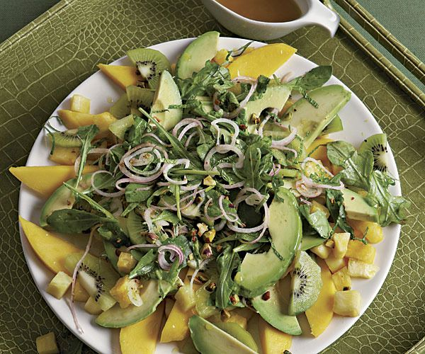 , Mango, and Pineapple Salad with Pistachios and Pickled Shallots ...