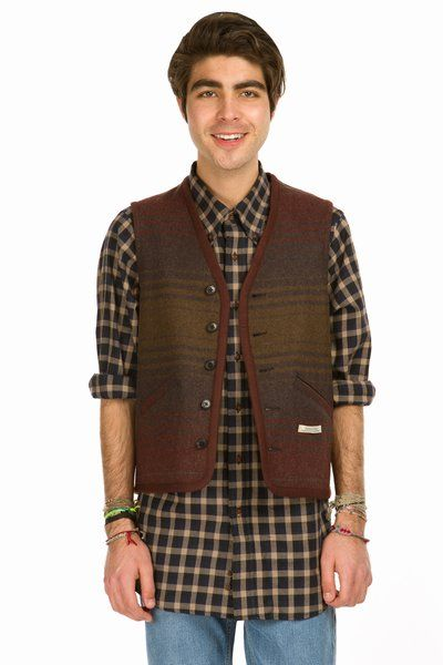 Pendleton clearwater c striped vest
