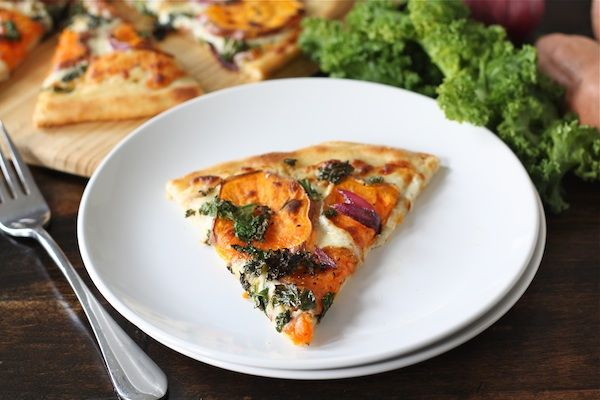 Sweet Potato & Kale Pizza with Rosemary and Red Onion (Two Peas ...