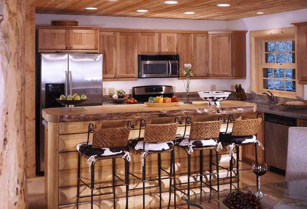 Nice kitchen log home kitchens pinterest for Log cabin kitchen countertops