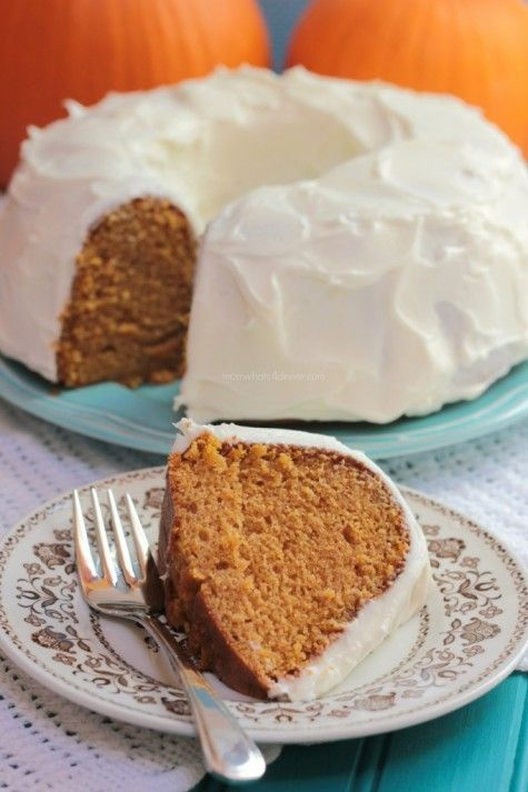 Pumpkin Bundt Cake with Cream Cheese Frosting | Recipe