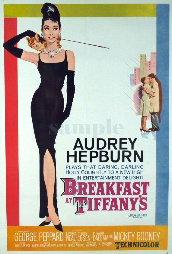 movie vintage poster audrey hepburn canvas print. Black Bedroom Furniture Sets. Home Design Ideas