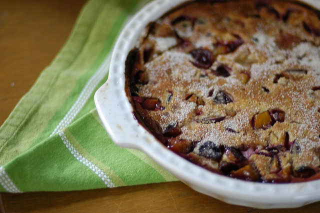 plum clafoutis| glutenfreegirl | Life in the Kitchen | Pinterest