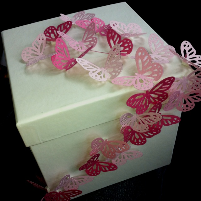 Fluttering Butterfly Gift Box, I made this using card stock paper in ...