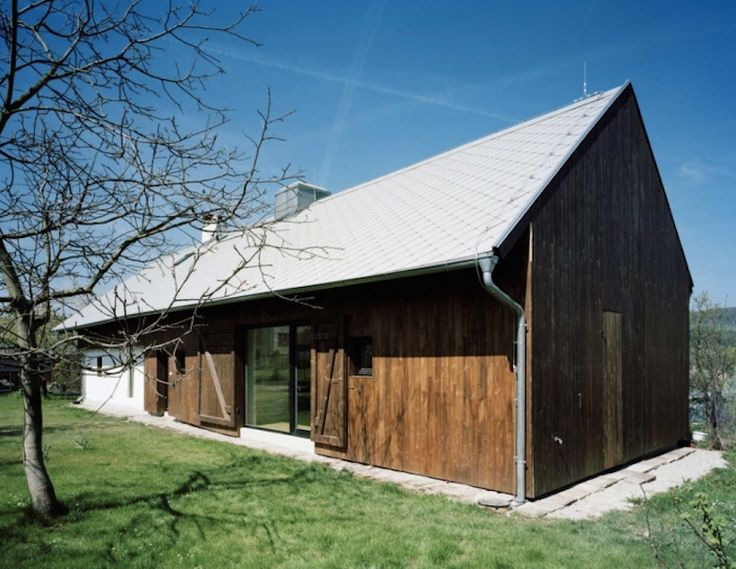 Refitted barn house with modern windows scandinavian rustic